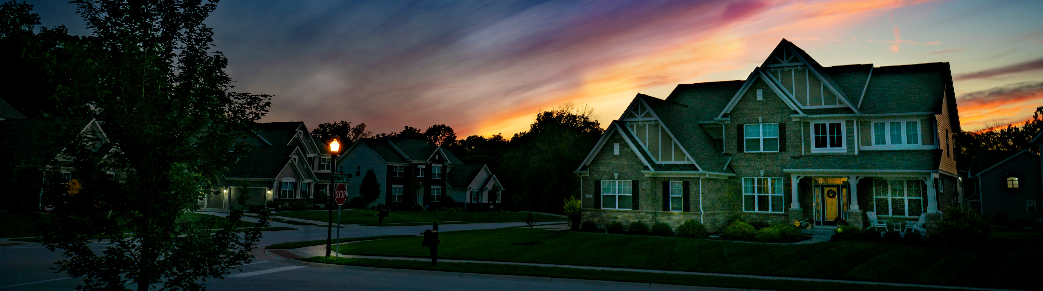 House at Sunset Photo